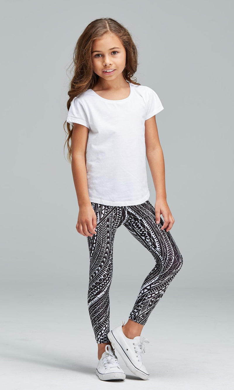 Aboriginal Art Kids Leggings Reflections