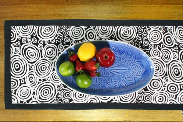 Aboriginal Art Cotton Table Runner by Nelly Paterson (2)