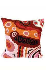 Aboriginal Art Cushion Cover by Andrea Adamson Tiger