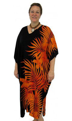 Rayon Kaftan Long Palm Frond, More Colours