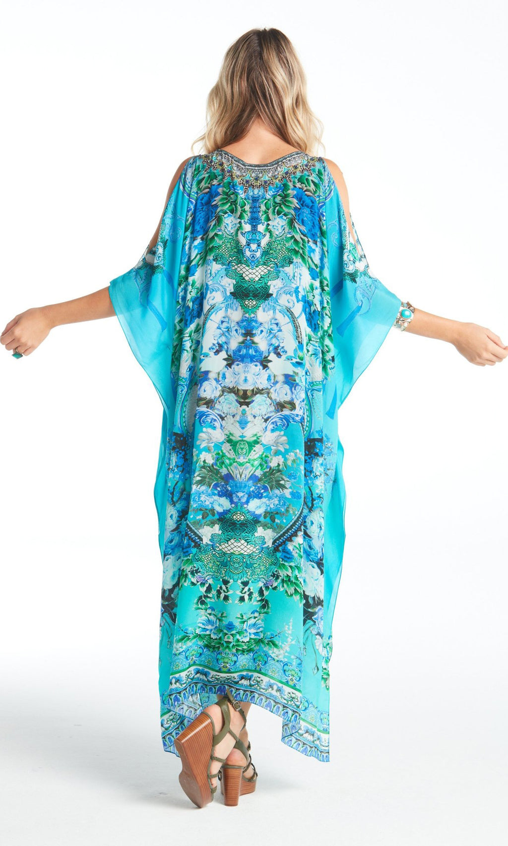 Silk Kaftan Medium With Slit Those Blue Eyes