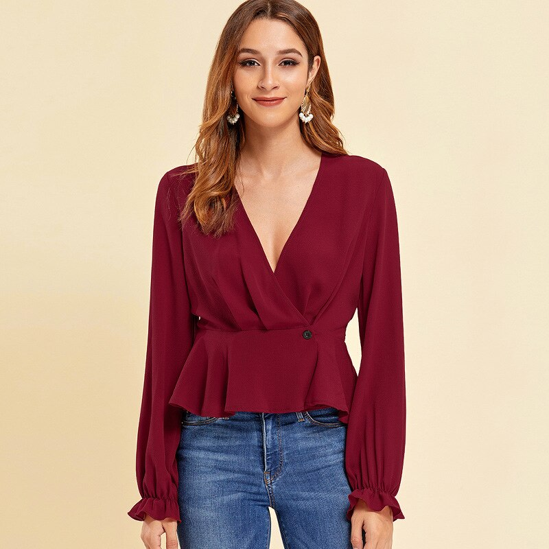 Office lady Blouse