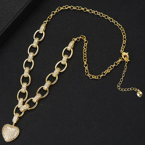 Heart Pendant Charms Necklace