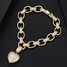 Load image into Gallery viewer, Heart Link Chain Bracelets