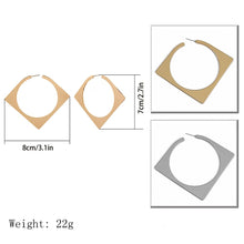 Load image into Gallery viewer, Statement Geometric Square Stud Earring Statement