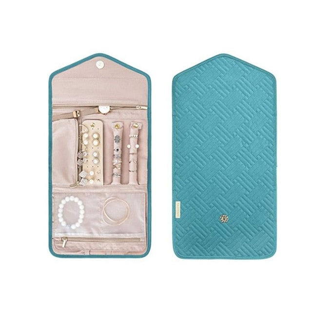 Travel Foldable Jewelry Organizer Case