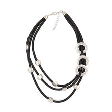 Load image into Gallery viewer, Layered Leather Chunky Statement Necklace