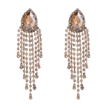 Load image into Gallery viewer, Stunning Crystal Rhinestone Big Water Drop Dangle Earrings