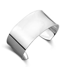 Load image into Gallery viewer, 925 Sterling Silver Classic Simple Extra Large Opening Bracelet