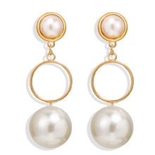 Load image into Gallery viewer, Pearl Statement Earrings