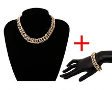 Load image into Gallery viewer, Exaggerated Cuban Thick Chain Choker Statement Necklaces, Bracelets and Sets