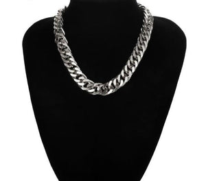 Thick Chunky Choker Statement Necklace