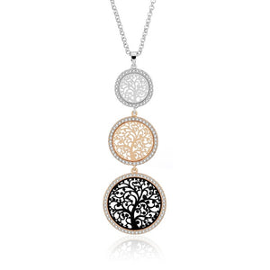 Round Tree of Life Long Pendant Necklace