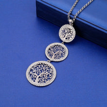 Load image into Gallery viewer, Round Tree of Life Long Pendant Necklace