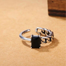 Load image into Gallery viewer, Irregular Twisted Opening Zircon 925 Sterling Ring