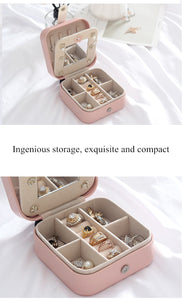 Travel PU Leather Jewelry Box