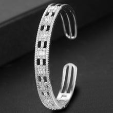 Load image into Gallery viewer, Luxury Stackable Cubic Zircon Crystal Bangles