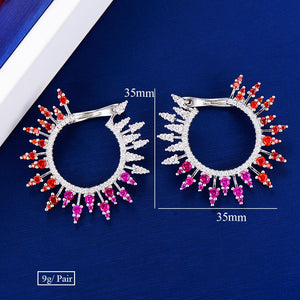Fireworks Cubic Zirconia Stud Earrings