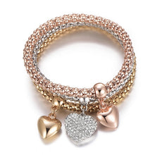 Load image into Gallery viewer, Heart Charm Elastic Bracelets