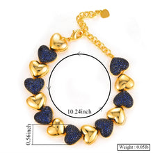Load image into Gallery viewer, Heart Charms Cubic Zirconia Statement Necklace, Bracelet, Ring, Earrings or Set