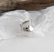 Load image into Gallery viewer, Irregular Concave Wide Surface 925 Sterling Silver Open Ring