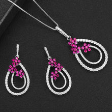 Load image into Gallery viewer, Flowers Necklace Earring Jewelry Sets