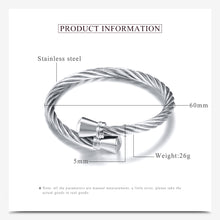 Load image into Gallery viewer, Stainless Steel Stretch Cable Mesh Chain Bracelets