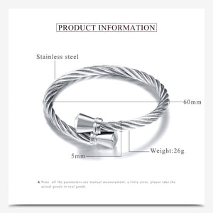 Stainless Steel Stretch Cable Mesh Chain Bracelets