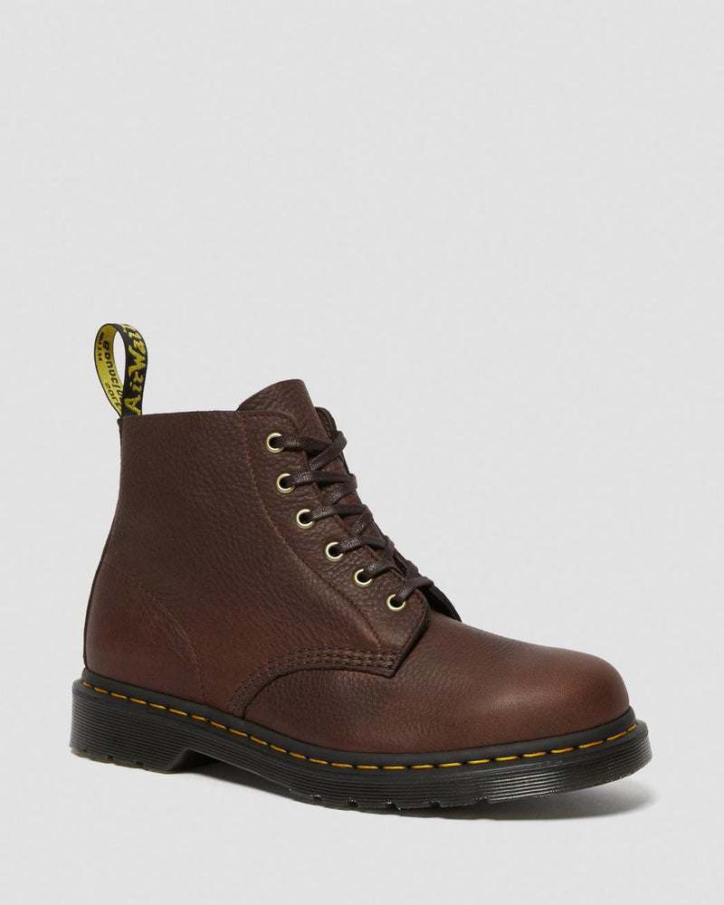 101 AMBASSADOR LEATHER ANKLE BOOTS - Cask