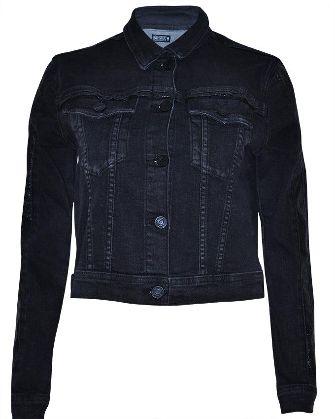 Women's Long Sleeve Trucker Jacket - Nobody Jeans