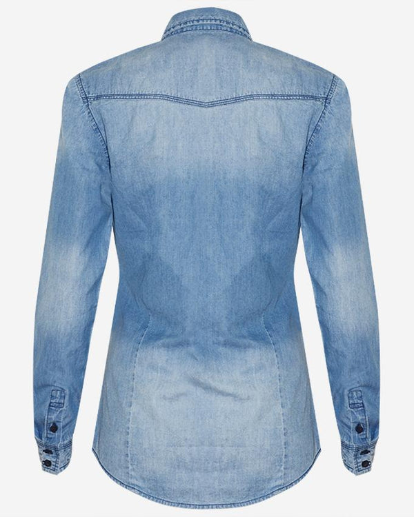Women's Long Sleeve 2 Pockets Denim Shirt - Nobody Jeans