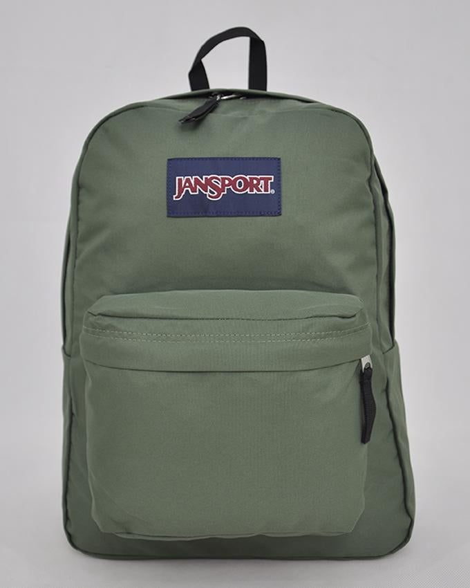 "JanSport T501 SuperBreak 100% Authentic School Backpack 17""H x 13""L x 7""W_MUTED GREEN"