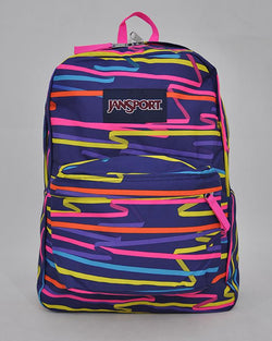 "JanSport T501 SuperBreak 100% Authentic School Backpack 17""H x 13""L x 7""W_RIBBONS"