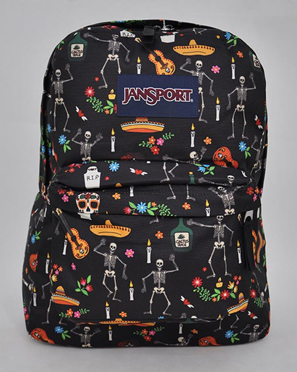"JanSport T501 SuperBreak 100% Authentic School Backpack 17""H x 13""L x 7""W_DAY OF THE DEAD"