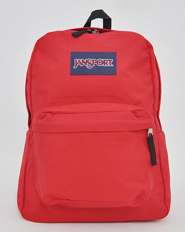"JanSport T501 SuperBreak 100% Authentic School Backpack 17""H x 13""L x 7""W_RED TAPE"