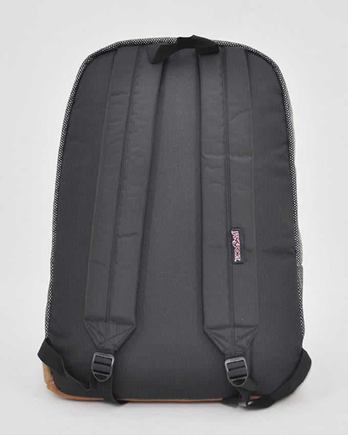 NWT JanSport Right Pack Digital Edition Backpack Suede Bottom, Black/White_SQUARE STATIC