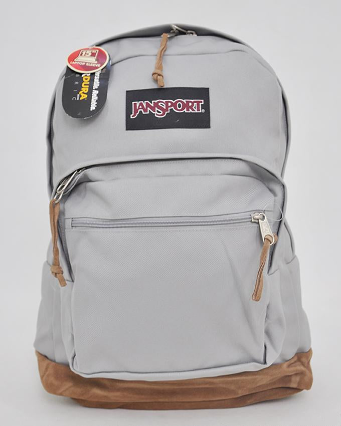 New Authentic Jansport Right Pack Backpack Student School Laptop Bag_GREY RABBIT