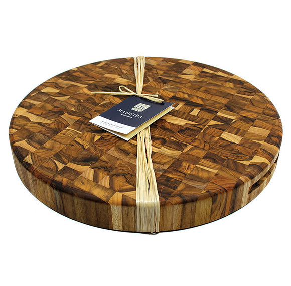 Extra large round chop board