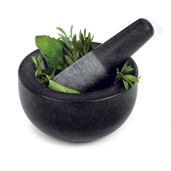Black Granite mortar & pestle 5