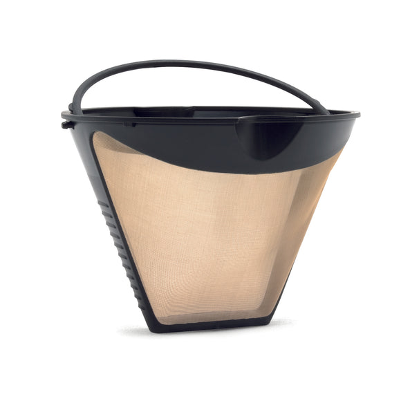 Goldtone cone shaped permanent coffee filter