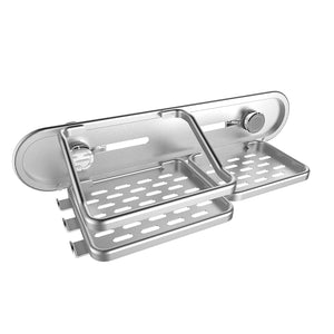 Rust proof deluxe aluminum shower organizer