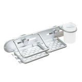 Rustproof deluxe aluminum shower organizer with cup