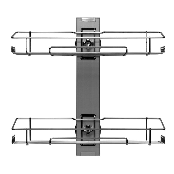 Deluxe two-tier suction mounted shelf