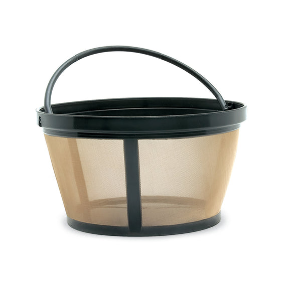 Goldtone basket shaped permanent coffee filter