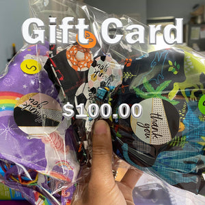$100 Gift Card 100% COTTON THREE LAYER WITH POCKET HANDCRAFTED BY HOUSEWIVES FROM MY DESIGNS FLORIDA