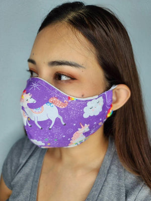 More unicorns cloth face mask