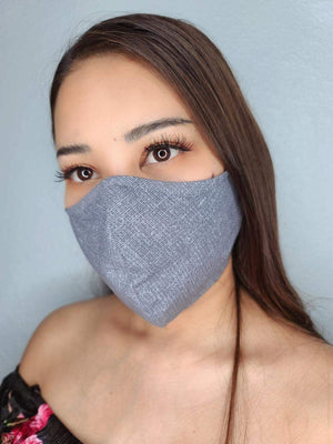 Grey texture face mask