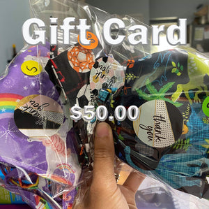 $50 Gift Card 100% COTTON THREE LAYER WITH POCKET HANDCRAFTED BY HOUSEWIVES FROM MY DESIGNS FLORIDA
