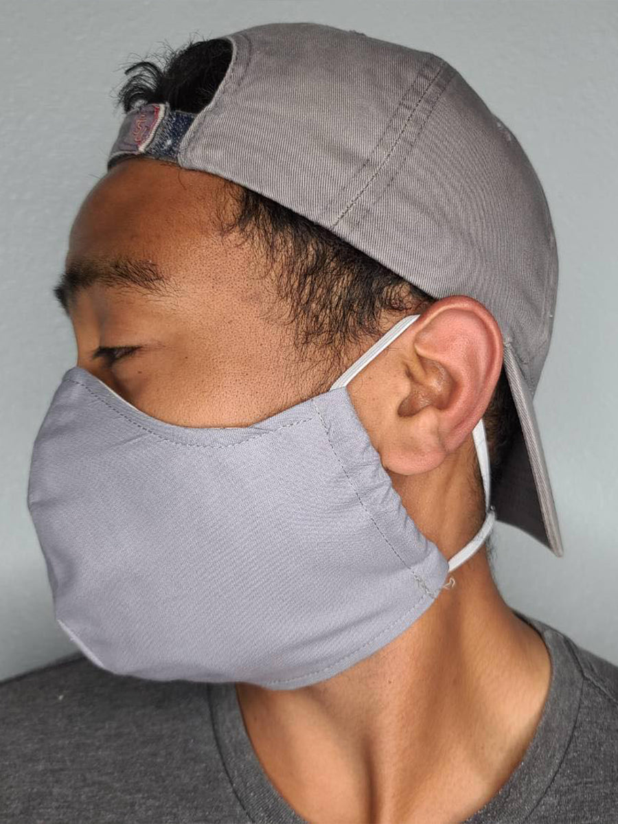 SOLID GREY FACE MASK