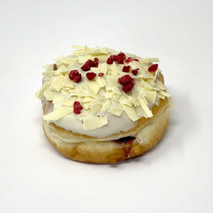 Raspberry & White Chocolate Doughnut